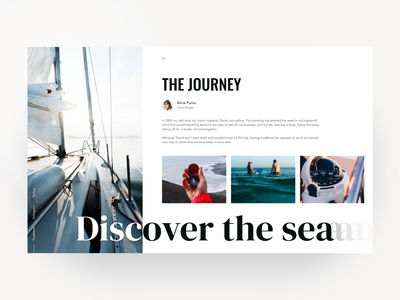 The Journey - Layout Exploration whitespace white blue layout interface cover light ui design clean app