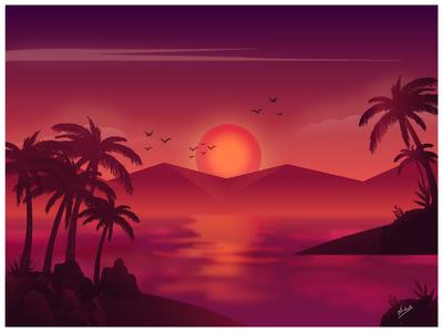 Sun set (monochromatic)