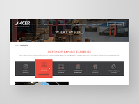 Acer Exhibits Website Redesign