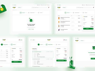 Healthy Shopping Cart Process billing online shop figma vector webdesign design ux ui illustrator shopping cart ecommerce cart