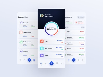 Financist - a personal financial management transaction management economic ui  ux design app figma flat ux ui financial budget fintech finance pfm