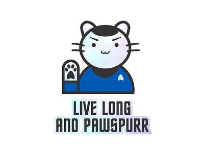 Holographic Spock Cat cat spock star trek holographic