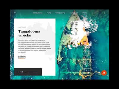 Diving trips website slider protopie trips travel scuba diving snorkeling dlchallenge dlweekly designline web diving animation