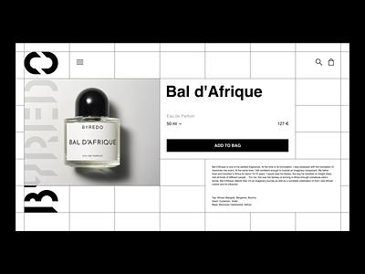 Perfume store concept grid layout byredo black and white minimal store e-comerce ecommerce perfume