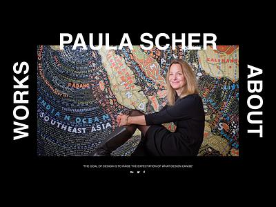 Paula Cher quote designer portfolio homepage desktop