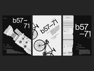 Posters composition poster black