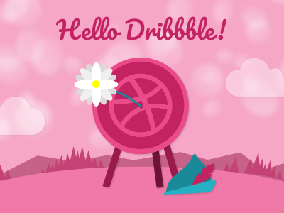 Hello Dribbble illustration dribbble first shot