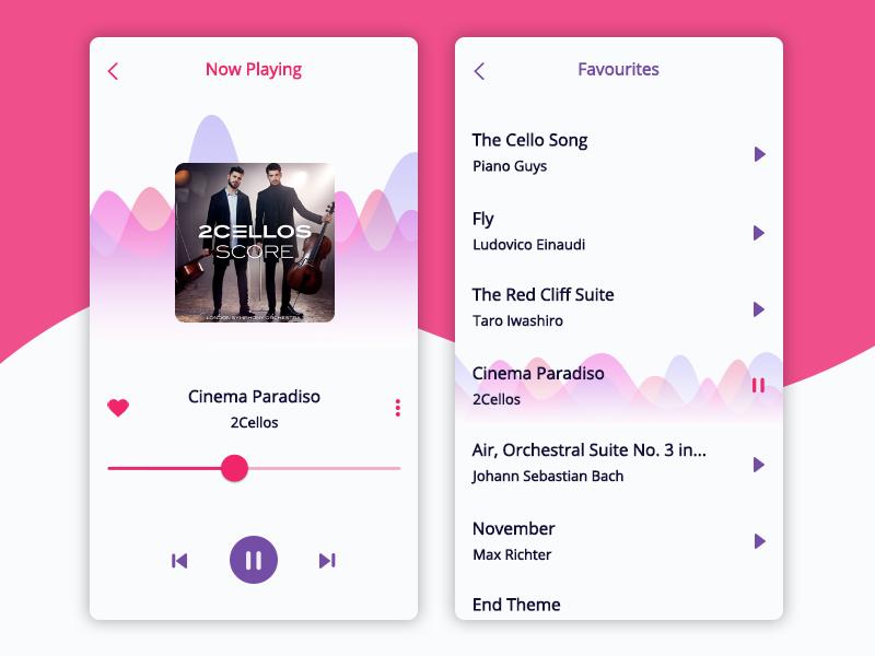 Daily UI #009 Music Player music player daily ui bright music player