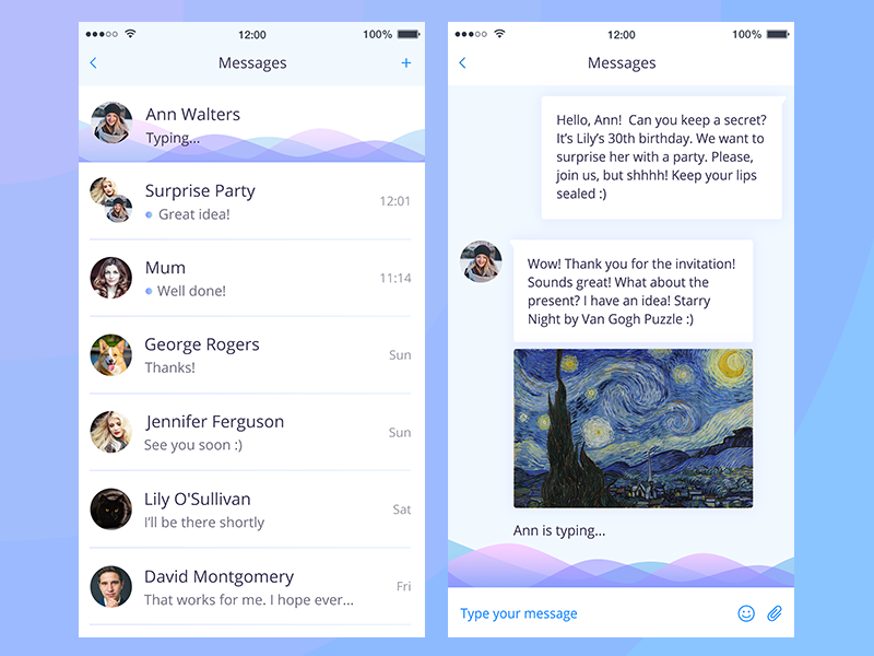Daily UI Direct messages direct messages daily ui messenger messages mobile chat