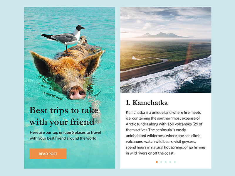 Blog Post blog post daily ui travel post blog article