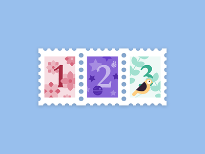 3 Dribbble Invites Giveaway illustraion stamp dribbble invite giveaway dribbble invitation dribbble invite