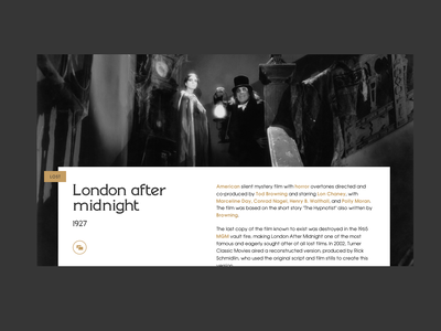 Horrow silent movie silent film halloween