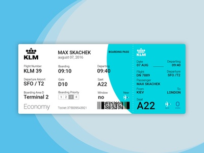 Boarding pass. KLM. airplane ticket fly ticket design ticket klm boarding pass