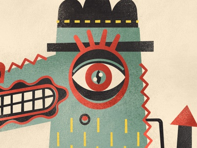 Number 1 publication portfolio numbers lettering illustration design