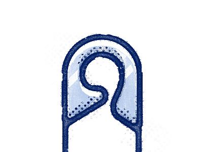 Safety Pin safety pin portfolio icon illustration design