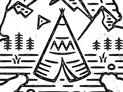 Native American Heritage Month tent indian portfolio icon illustration design