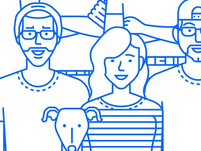 Co-workers coworker work portfolio icon illustration design