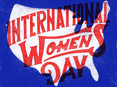 International Womens Day portfolio lettering typography illustration design
