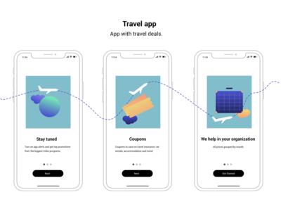 Illustration, Onboarding,Travel app