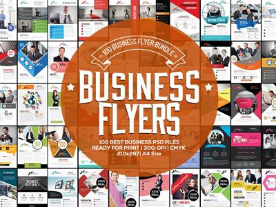 100 Fresh Business Flyers Bundle vectors corporate flyers mega bundle big bundle free flyers 100 fresh business flyers bundle