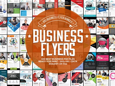 100 Fresh Business Flyers Bundle