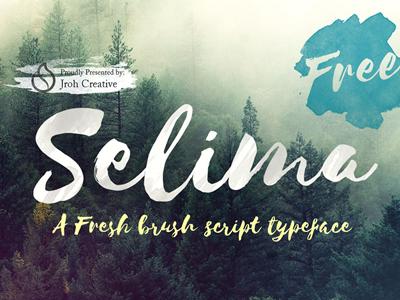 Selima Script Free Font company clean business flyer business selima script free font