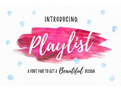 Playlist Free Font company clean business flyer business playlist free font
