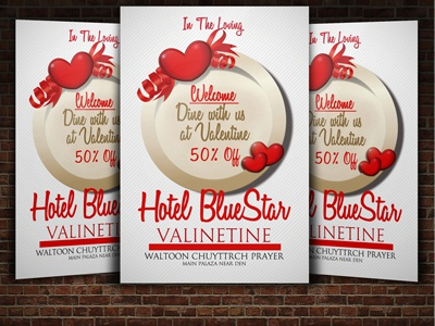 ValentineS Day Dinner Flyer By Aliseemianum  Dribbble
