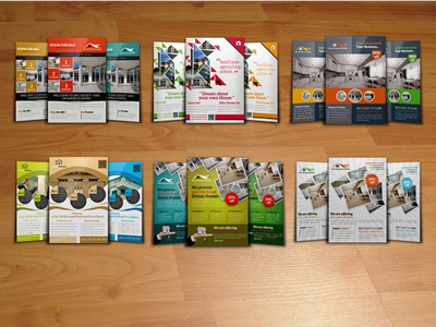6 Real Estate Flyer Bundle