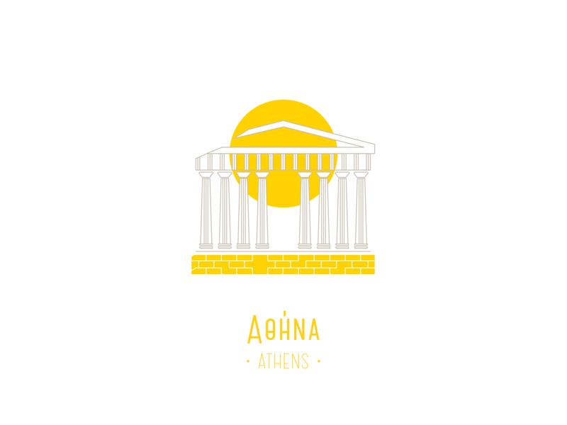 Athens cities illustration trip summer parthenon acropolis greece athens