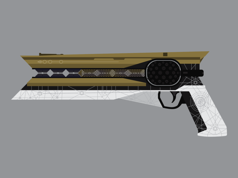 Sunshot Illustration weapon vector video games illustrator illustration gun destiny 2 gaming destiny