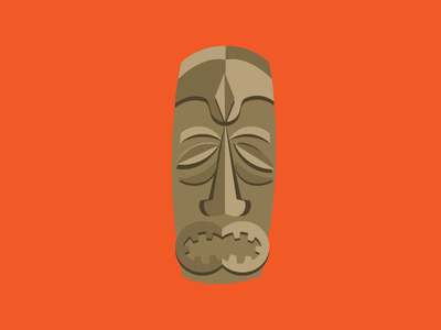 Tiki Mask #1 mid-century illustrator vector illustration vector mask tiki