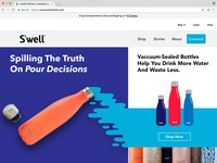 Daily UI Challenge 003 - SWell Bottles Landing Page Redesign