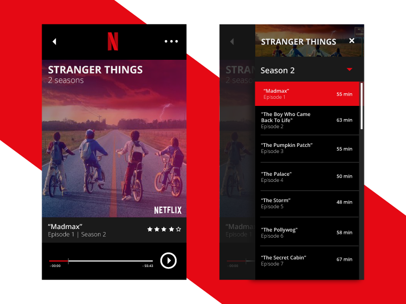 Daily UI Challenge 025 - TV App by Will Flourance on Dribbble