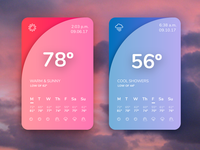 Daily UI Challenge 037 - Weather App