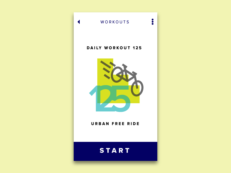 Daily Ui Challenge 62 Workout