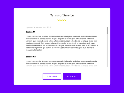 Daily UI Challenge 089 - Terms Of Service clean flat minimal 089 color app mobile interface design ux ui dailyui