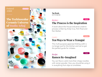 Daily Ui Challenge 091 - Articles