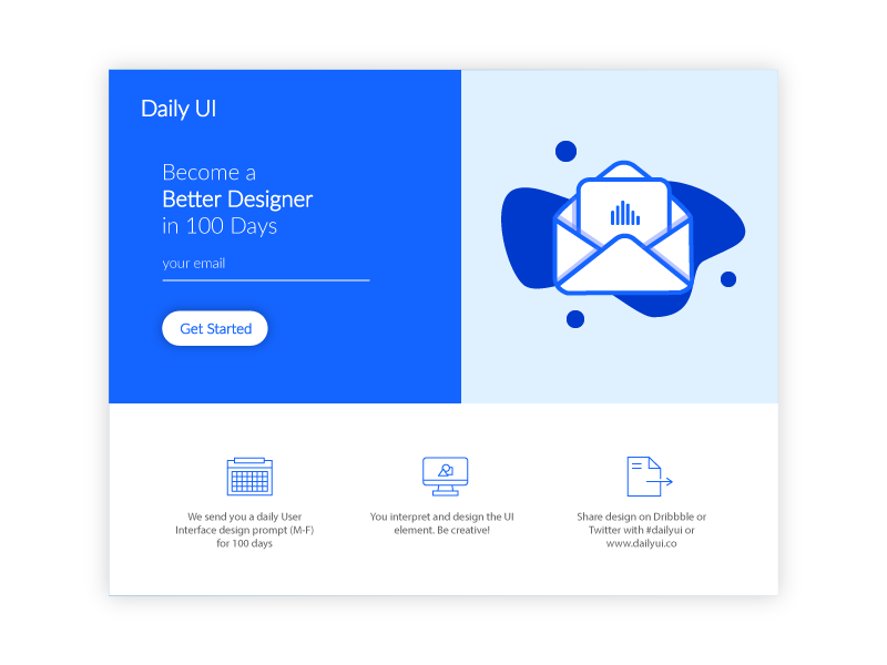 Daily ui challenge 100 daily ui landing page