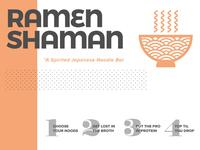 Ramen Shaman Menu Sample