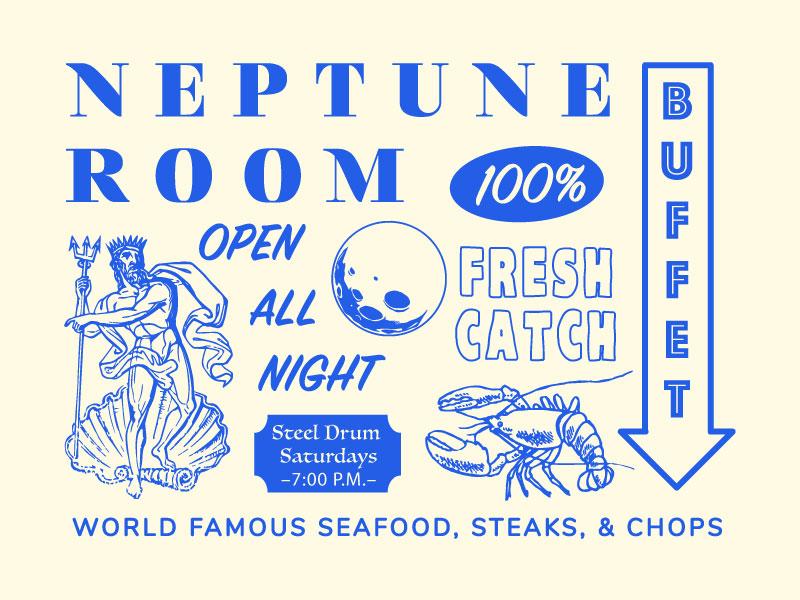 Neptune Room Brand Samples by Will Flourance on Dribbble