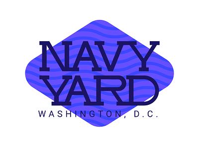 Navy Yard - Washington, DC texture vector typography type retro logo lettering font branding