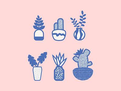 All Seeds, No Weeds illustration nature ceramics pastel illustraion plants