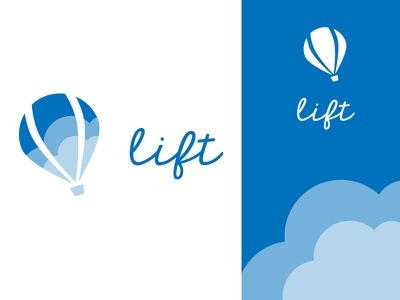 Daily Logo Challenge 02 - Hot Air Balloon vector typography hot air ballon logo identity flat design dailylogochallenge clean branding