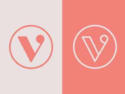 "Daily Logo Challenge 04 - Single Letter ""V"" serif pastel vector typography logotype lettering illustration illustrator design dailylogo dailylogochallenge branding idenity brand"