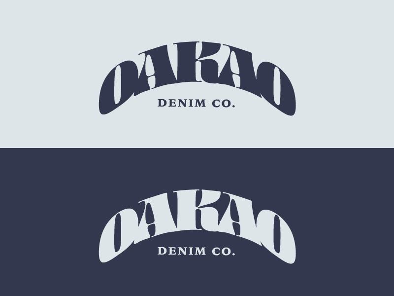 Daily Logo Challenge 07 - Fashion Company oakao denim fashion vector typography type serif wordmark logotype lettering illustration illustrator identity designs dailylogo dailylogochallenge branding brand