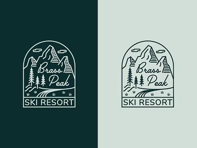 Daily Logo Challenge 08 - Ski Mountain script type vector typography retro logotype illustration illustrator identity design dailylogo dailylogochallenge logo branding brand nature outdoor badge ski