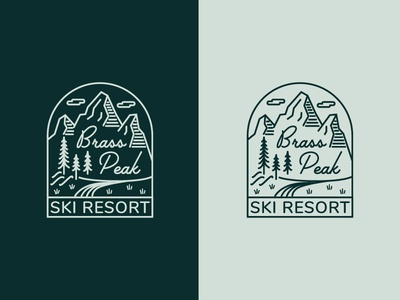 Daily Logo Challenge 08 - Ski Mountain
