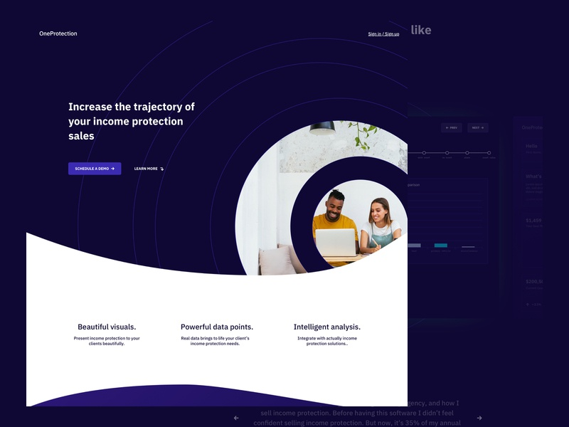 Planetary Concept 4 - Marketing Website clean minimal space marketing site app landing page ux design web design website ux