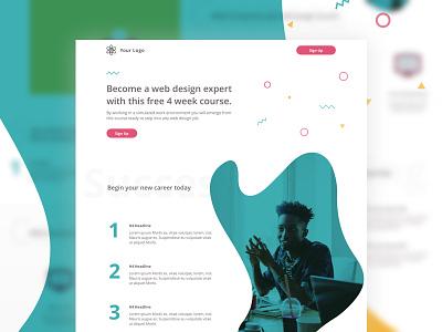 Education Landing Page landing page education confetti light design color leadpages interface pattern ui ux app